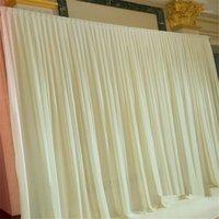 Бесплатная доставка 3x6m ледяной шелк ткань белый свадебный фон для вечеринки банкетные украшения свадебный сценический фон капля1