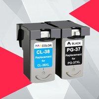 Cartuccia d'inchiostro Cartuccia compatibile per Canon PG37 cl38 PG 37 cl 38 pixma MP140 MP190 MP210 MP220 MP420 IP1800 IP2600 MP420 IP1800 Stampante MX300 MX310