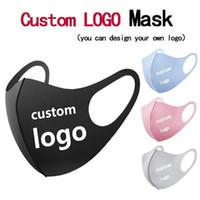 Erwachsene DIY fertigen Logo Maske Gesicht Mund-Nasenschutz Baumwolle Masken Wiederverwendbare Waschbar Art und Weise Anti-Staub Wind Proof DHL schnelle Anlieferung
