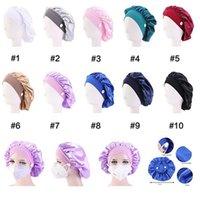 ليلة الحرير غطاء قبعة يمكن أن يعلق قناع غطاء الرأس للنساء النوم كاب الحرير بونيه لجميل الشعر تنظيف المنازل الشعر لوازم IIA883