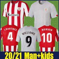 2020 2021 Bilbao Soccer Jersey Man Kids Kit Athletic I.Martinez Williams Football Jersey Yuri B Raul Garcia Muniain Camiseta de Bilbao 20/21