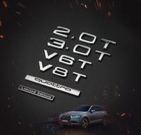 LOGO AUDI A4A6Q3Q5Q7A8L فور عجلة محرك WV6TV8T سيارة عصا الخلفية شعار الخلفية W12
