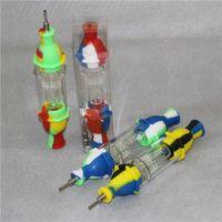 Silikon-Nektar-Kollektor mit 10-mm-Titan-Spitzen-Hunde-Glasfilter-Zubehör RECLAIMER Nektor Sammler-Kit für Raucherwachs-Dabber-Werkzeuge