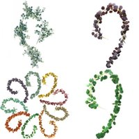 인공 유칼립투스 잎 지팡이 웨딩 센터 피스 시뮬레이션 된 식물학 등나무 파티 장식 거짓 식물 새로운 도착 9 5 Hhy L1