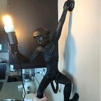 القرد سقف الحديثة الضوء الأبيض القرد على السقف حبل قلادة مصباح تركيبات لغرفة طعام فندق ديكور المنزل