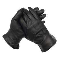 قفازات الشتاء الرجال 2020 جديد جلد الغنم قفازات جلدية أزياء الشتاء في الهواء الطلق القيادة جلد حقيقي شحن مجاني دافئ سميكة لينين LJ201221