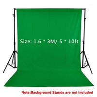 1.6x3m / 5x10ft estudio fotografía fotografías negro blanco pantalla verde foto fondo 100% no tejido para estudio vedio shotting1