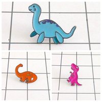 Wholesale- Free Shipping Cute Cartoon Dinosaur Brooch Pin Button Pins Girl Jeans Clothes Bag Decoration For Women Gift Wholesale1