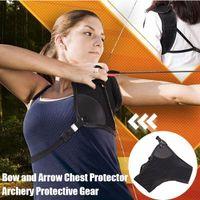 Ultimate Tiry Pro Pass Garde de la poitrine Chasse Sports Protecteur réglable Arc Arrow Sécurité Protection WHS KG-70