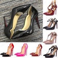 2021 المرأة عالية الكعب المرأة موجة عالية الكعب حفلة موسيقية أحذية عارية الربط اللباس أحذية حمراء وحيد عالية الكعب مضخات