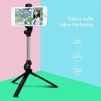 Wireless Bluetooth Selfie Stick المحمولة المحمولة Monopod طوي ميني ترايبود مع زر مصراع ل 11 سامسونج S20 S101