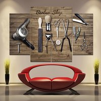 Peluquerías y herramientas Pinturas sin marco 4pcs (sin marco) PrintD en lienzo Arts Moderno Home Wall Art HD Pintura de impresión T200118