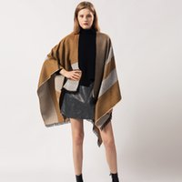 Outlet Cashmere like cape for men women in autumn and