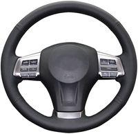 Rad-DIY Steering Abdeckung für Subaru Impreza 2013-2016 / Forester 2014-2016 / Outback Legacy-2012-2014 / XV Crosstrek echtes Leder nähen