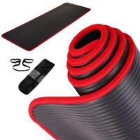Tapis de yoga Jusenda 10mm Mat 183 * 61cm NRB Oreiller antidérapant pour hommes Femmes Fitness Fitness Tastress Gym Pads Pilates Bag1