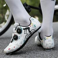 Bisiklet Ayakkabı Çapraz Sınır Büyük Boy Yol Bisikleti NO-Kilit Ayakkabı Sert Sole Erkek Dağ Profesyonel Güç Döngüsü Ayakkabı Kilit Kadın