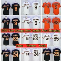 8 Hunter Pence 9 Matt Williams 24 Willie Mays 25 Barry Bonds Will Clark Jersey di baseball
