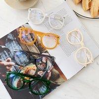 Neue Mode Runde Computer Brillen Süßigkeiten Farbe Optische Rahmen Pfeil Rivet Eye Brille Frames für Männer Frauen2021