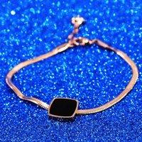 Pulsera de la cadena de la cadena de la Snake Square de alta calidad Pulsera del enlace colgante para las mujeres Joyería de moda de la boda1