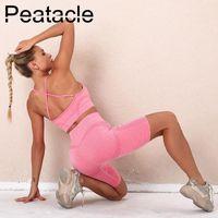 Yoga нарядов peofactacle сексуальная красота спина спортивный бюстгальтер шорты костюм бегущий фитнес 2 набор пищей женщин тренажерный зал одежда