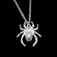 Moda 28 * 25mm Örümcek Arachnic Kolye Kolye Bağlantı Zinciri Kadın Gerdanlık Kolye Yaratıcı Takı Parti Hediye Için