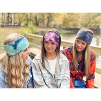 Tie Dye Headbands 2020 Drop shipping Colorful Knitted Hairba...