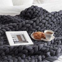 MyLB Hot вязаное одеяло для взрослых плюшевых диванов Sherpa одеяло взвешенное одеяло детей портативный автомобиль путешествия охватывает меховые бросок одеяла LJ200819
