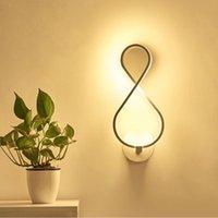 Avrupa otel kavisli duvar lambası yatak odası arka plan göz bakımı led sıcak beyaz ışık