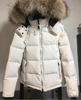 Зимняя куртка Женская куртка вниз вниз ветровки Реальный волк меха Толстовка Воротник Белая утка Верхняя одежда Пальто модниц Parka