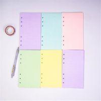 5 ألوان المنتج A6 فضفاض ليف اللون الصلبة ملء الملء دوامة الموثق مؤشر صفحة اليومية مخطط خط الشبكة فارغة أجندة مكتب الملحقات
