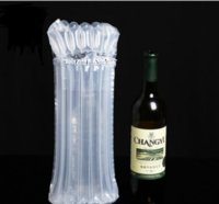 Dhl sf express 32 * 8 cm luftdunnage tasche luftgefüllte schütze wein flasche wrap aufblasbare luftkissensäulen-wickelsäcke mit einer freien pumpe