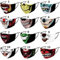 Natal Halloween palhaço máscara facial rosto estilista máscaras impressa máscara à prova de poeira à prova de vento Partido Máscaras adulto com filtros PM2.5
