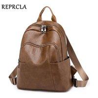 HBP RPRCLA Повседневная рюкзак Женщины Сумка на плечо Мягкая Кожа Путешествия Bagpack Дамы Школьные Сумки Мочила