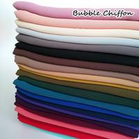 Высокое качество Plain пузырькового шифонового шарфа сплошного цвета шаль оголовье пляж популярного хиджаб лето мусульманские шарфы / шарф 10pcs / серии 201113