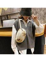 Женщины ягненка, как ткани пушистые меховые медведь сундук Chrose Crossbody для женщин A69C