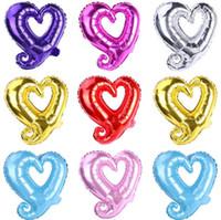 18 zoll Haken Herz Form Aluminiumfolie Ballons Aufblasbare Hochzeit Dekoration Valentinstagtage Geburtstag Baby Dusche Luftballons SN1902