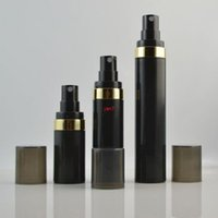 15ML 30ML 50ML أسود مضخة الهواء بخاخ فراغ زجاجة بلاستيكية غسول زجاجات إعادة الملء حاوية لمستحضرات التجميل f2017887good Qualtity