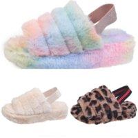 GGN4 Slipper Leuke Cartoon Alpaca Bont Slippers Sonic Pluche Home Kid Winter Warm Pluche Open Teen Parent-Child Shoes Dames Floor Dia's Huis