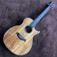 """2020 nova koa madeira überlegen chaylor SP14 guitarra acústica, SANDALO de volta e lados, 41 """"echte Abalone ps14ce modelo, frete grátis"""