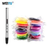 الجملة weiyu 3d القلم rp900a diy 3d الطباعة القلم دعم ABS / بلا جيش التحرير الشعبيا خيوط 1.75 ملليمتر لعبة هدية الإبداعية للأطفال تصميم الرسم Y200428