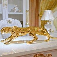 145 cm Grandi ornamenti leopardi Decorazione auto Casa Casa Zhaocai Regali Apertura Regali Soggiorno Cabinet TV Artigianato animale Artigianato