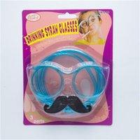 Lustige Brillen Pipette Kreative Seltsame Brille Bart Strohspiele Requisite Für Geburtstagsfeier Erwachsene und Kinder Unterschiedliche Farbe 1 61SXH1
