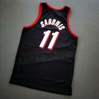 Özel 604 gençlik kadın vintage arvydas sabonis vintage kolej basketbol forması boyutu S-4XL veya özel herhangi bir isim veya numara forması