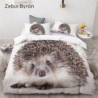 3D роскошные постельные принадлежности на заказ / king / Europe / сша, комплект одеяло, одеяло / одеяло набор крышки, кровать набор животных ежик