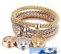 Bracelet cristal diamant couronne coeur arbre élastique 3pcs / jeu de vie crâne papillon charme bracelets bracelets de bracelets