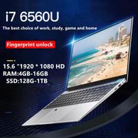 New15.6 inç -6560 16G RAM 128 g / 256g / 512g / 1 TB SSD ile 1920 * 1080HDScreen parmak izi tanıma arkadan aydınlatmalı klavye dizüstü