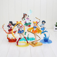 17 cm - 20 cm Sailor Moon Figure Mars Venere Mercury Giove Nettuno Uranus PVC Action Figure Model Toy X0121