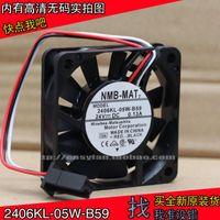 NMB 2406KL-05W-B59 6015 24V 0.13a FANUC sistema / macchina ventola di raffreddamento 60 × 60 × 15 millimetri