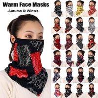 1 unid mujer impresión cara cálida bufanda otoño invierno a prueba de viento máscara senderismo bandana foulard algodón cuello suave bufandas anillo envoltura cubierta