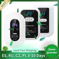 Generador de ozono 220V Purificador de aire Desinfecta O3 Deaerator SMART Eliminar Formaldehyde Esterilización Ion para niños Pet Kitchen Wit1